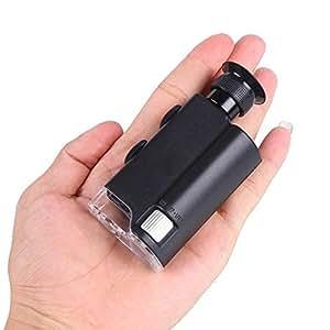 Ohuhu® 200X-240X Microscopio Tascabile con Luce LED e Luce UV per Rilevare Soldi e Gioielli