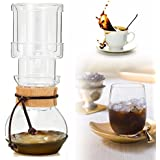 HITSAN INCORPORATION 400ml Elegant Dutch Cold Brew Water Ice Drip Coffee Maker Glass Pot For 2 Cups For 2 Persons
