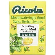 Ricola Lemon Mint Sugar Free Swiss Herb Drops 45 g (Pack of 10)