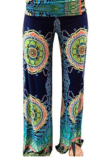 JOTHIN Damen Baggy Hose Freizeithose Drucken gerade Jeans Freizeithosen Haremshose Sporthose mit Blumendruck Baumwolle (Jugendliche Hip Hop Für Kostüme)