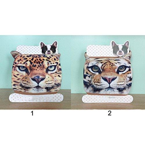 AOKDOOR Niedlichen radfahren tiger gesicht warme atemschutzmaske leopard anti staub baumwolle maske für party aprilscherztag warme atemschutzmaske (Mehrfarbig 2) (Partys Warmers Food Für)