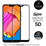 Lustren Edge to Edge 9H Gorilla Tempered Glass and Temper Protector for Xiaomi Redmi 6 Pro/Mi A2 Lite 5D (Black) -Pack of 2