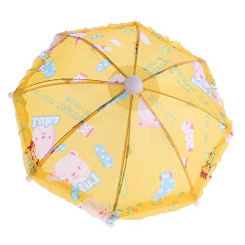 D DOLITY Miniatur Tiermuster Regenschirm Stockschirm Schirm für 18'' American Girl Puppe Zubehör ( 1 Stück ) - - Alexander Puppe Madame 18