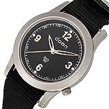 Doon Van Damen/Herren Uhr mit Schwarzem Zifferblatt, Schwarzem Armband aus Nylon - D2019-002
