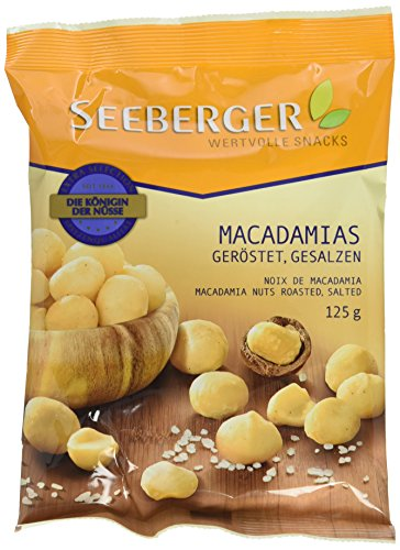 Preisvergleich Produktbild Seeberger Macadamia geröstet,  gesalzen,  125 g Beutel