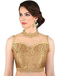 Amazon.in: Gold - Saree Blouses / Ethnic Wear: Clothing & Accessories