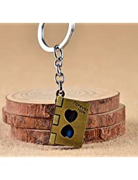 CVANU® Book Shape Hourglass With Blue Color Sand KeyChain / Keyring For Royal Enfield Thunderbird 350