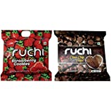 Ruchi Cookies Combo, Choco Chips & Strawberry Cookies, 400g (Pack of 2)