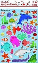 Mes Jolis Autocollants : les poissons - Dès 3 ans