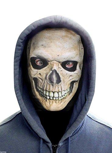 GRINNING SKULL FACE - Lycra (Scary Clown Masken Beste)