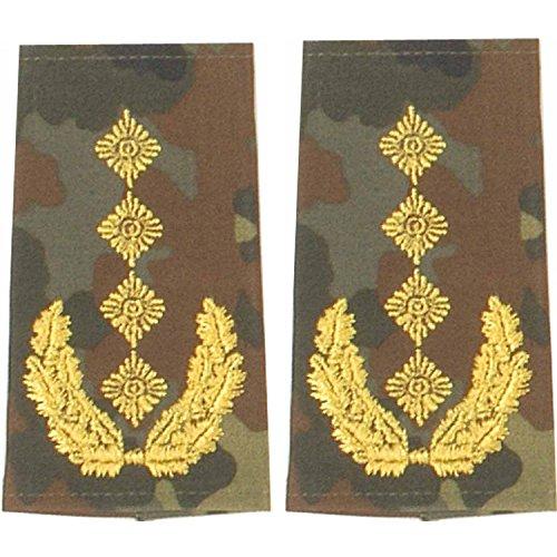Unbekannt Bundeswehr Rangschlaufen (Heer) General Farbe: Flecktarn Stickerei: Gold 1 Paar BW