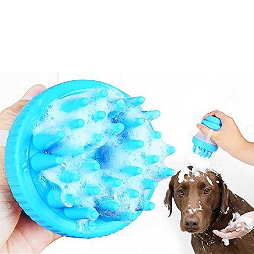 ADFD Pet Cat, Dog, Bad Artefakt, Weich und Komfortabel, Kann Pet-Lotion, Blau, Lange 11CM, Breite 6.5 cm, Grünem Gummi, Silikon, Leicht Zu Reinigen Speichern. - Grün Lotionen