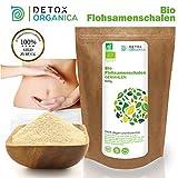 DetoxOrganica Flohsamenschalen gemahlen BIO 500g // Premium Qualität 99% Reinheit // Vegan Glutenfrei Ballaststoffreich Low Carb // Psyllium husk powder Flohsamen