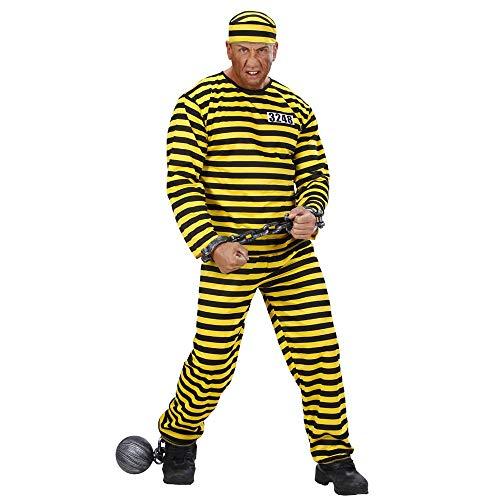 Kostüm Sträfling Für Erwachsene - Widmann - Erwachsenenkostüm Häftling, Mehrfarbig (Schwarz/Gelb), L