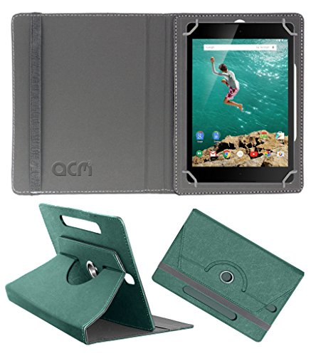 Acm Designer Rotating Leather Flip Case for Htc Google Nexus 9 Cover Stand Turquoise  available at amazon for Rs.209