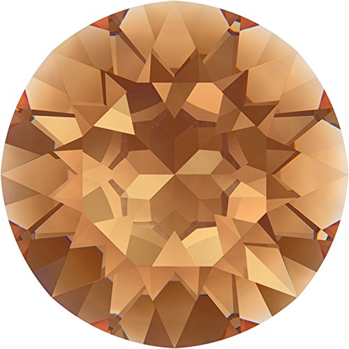 Swarovski Kristalle 1164737 Runde Steine 1088 SS 34 Light Smoked Topaz F, 144 Stück