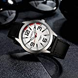 COOKDATE militärische Frauen-Uhr, Frauen-Mode-Luxus Armbanduhr Geschäfts beiläufiges Kleid Wasserdichte Quarzuhr und Wählen Schwarz