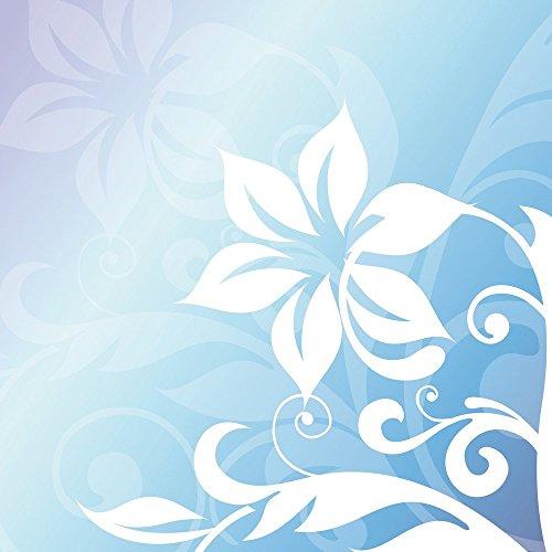 Apple iPhone 5s Housse Étui Protection Coque Fleur Fleur Ornement Étui en cuir bleu marine