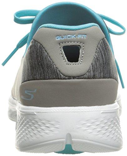 Skechers Go Walk 4-A.d.c, Scarpe da Ginnastica Basse Donna Grigio (gybl)