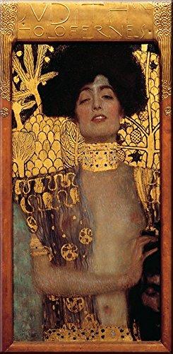 time4art Gustav Klimt Print Canvas Bild Judith mit dem Haupt des Holofernes auf Keilrahmen Leinwand...