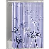 mDesign rideau de douche avec motifs pissenlit – le rideau de baignoire idéal aux...