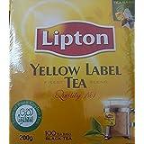 Lipton Yellow Label Tea Finest Blend Quality No 1 Black Tea, 100 Tea Bags