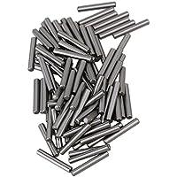 cnbtr Argento Acciaio PCB Board Cilindro Tassello metrico dritto Pins Rod Fissare Elementi 100pezzi (2x 13mm) - Metrica In Acciaio Rod