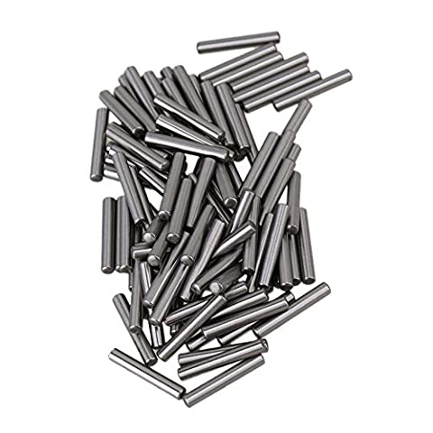 CNBTR Silver Steel PCB board Cylinder Straight Metric Dowel Pins Rod Fasten Elements Pack of 100 (2 x 13mm) - Metrica In Acciaio Rod