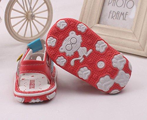 1paar Igemy Sandálias Da Criança Sapatos Som Flor De Bebê Macio Com De Menina Solado Vermelho Novas 4BwdaBfqx