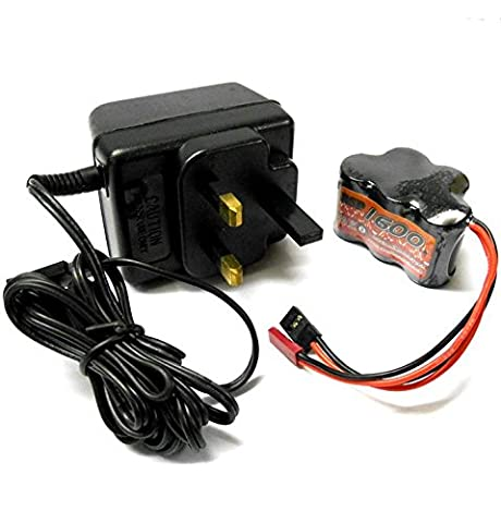 BSD BS903-108H1600mah 6v Battery Charger JR with 1600mah Bat Pack Hump 2/3A NiMH