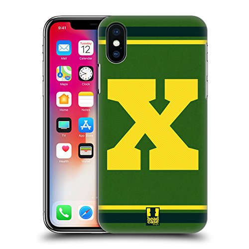 Head Case Designs Arancione C Team Del College Cover Retro Rigida per Apple iPhone X Giallo X