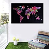 Home Decor Throw World Map Wall Hanging Poster (Cotton) 30x40 Home Decor, Wall Decor, Office Decor