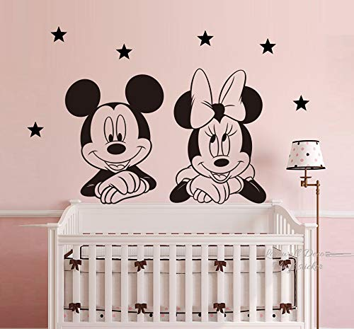 Mickey Maus Minnie Mouse Sterne Disney Wandaufkleber Wandgemälde Art Deco Wohnkultur Wandkunst Dekoration Abziehbilder Babyzimmer