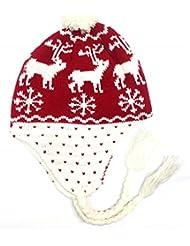 Mütze Eskimo, Motiv Hirsch, rot-one size-