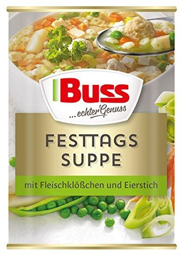 Buss Festtags-Suppe mit Fleischklößchen und Eierstich, 400 g (Suppe)