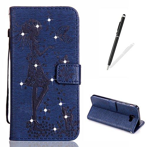 kasehome-funda-samsung-galaxy-j7-primebrillo-diamante-3d-elegante-hada-angel-nina-y-mariposa-gato-en