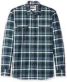 Amazon-Marke: Goodthreads Herren-Shirt, normale Passform, kariert, Twill, Blau (Navy Green Plaid Nav), US M (EU M)