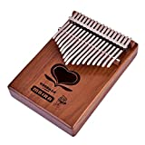 Dilwe 17 Tasten Thumb Piano, Portable Tiger Wood 17 Tasten Kalimba Mbira Thumb Orgel Klavier