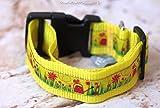 Hundehalsband Gießkannen in Gelb, Mittel