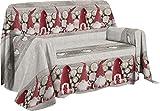 Pezzoli Shop Telo arredo copritutto copridivano granfoulard GNOMI (Rosso, cm 180 x 290)