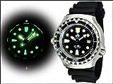 Profi Taucher Uhr m. Automatik Werk Saphir Glas Helium Ventil von Tauchmeister T0046 - 2