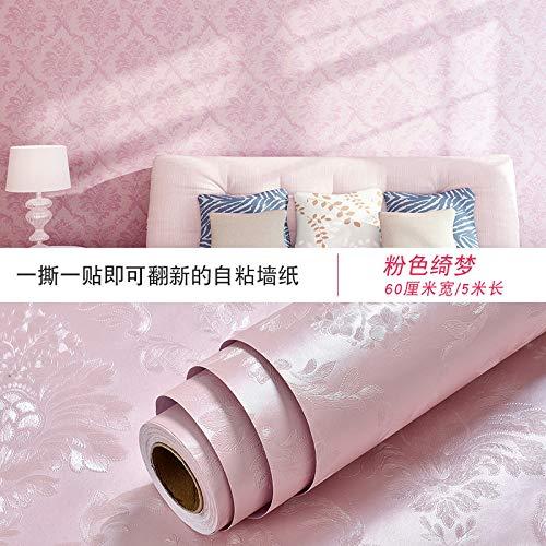 lsaiyy Tapete Selbstklebende Schlafzimmer mädchen tapeten schlafsaal Dekoration raummöbel renovierung tapete-60 cm X 5 M