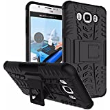 MACC Hybrid Military Grade Rogue Shock Proof Back Cover Case for Samsung Galaxy J7, 2016 (Black)