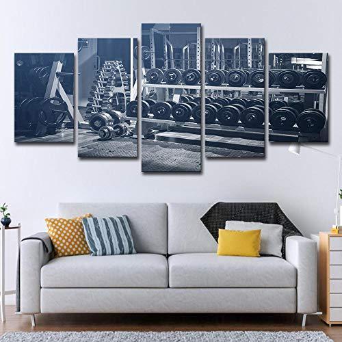SCLWFJ Wulian malerei leinwand malerei leinwand rhythmische Gymnastik hanteln für Wohnzimmer Moderne Dekoration malerei Wand