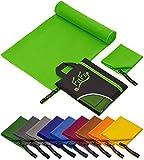 Fit-Flip Set: 70x140cm + 30x50cm + Tasche/Grün