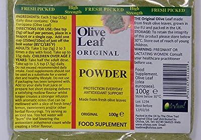Original High Grade Olive Leaf Smoothie Juice Powder 100g | Caffeine & Tannin Free by Oliviva
