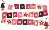 Christmas Chic & Shabby Garland Fabric Advent Calendar With Bags