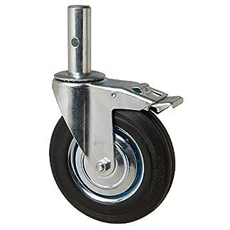 Wolfpack 11110155 Rueda Industrial Andamio (Macho) 200mm