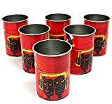 6er Set HAVANA CLUB Tin Cup RED Trinkdose Konservendose Havanna Trinkbecher ~mn 452 0944
