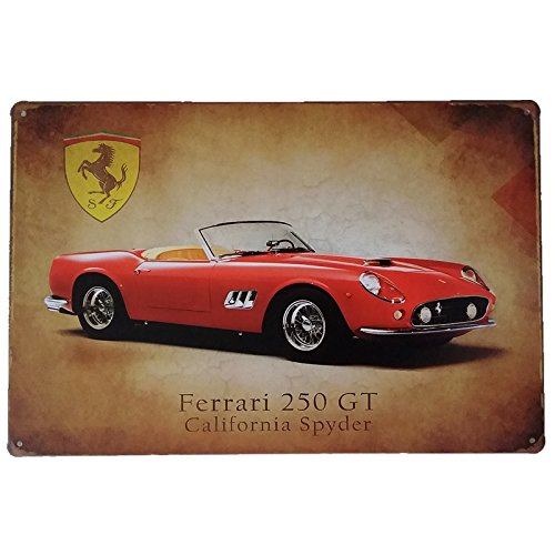Placas Decorativas Vintage metalicas Ferrari. Carteles